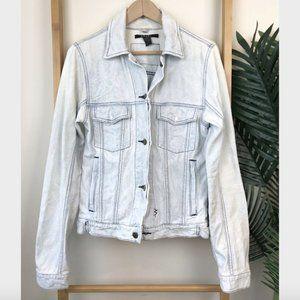 Ksubi Classic Blue Bleach Denim Jacket Size XS